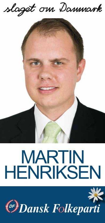 MARTIN HENRIKSEN - Dansk Folkeparti