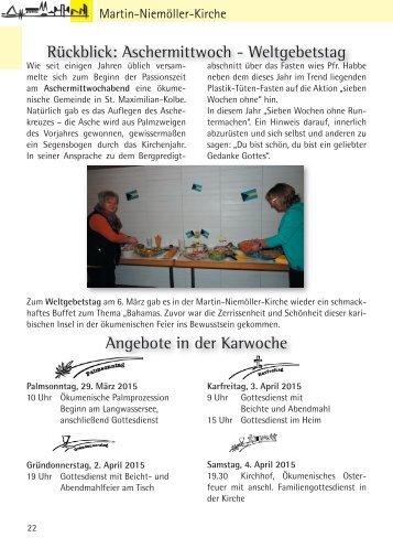 Gemeindebriefseiten April 2015