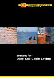 Deep Sea Cable Laying - Fyns Kran Udstyr A/S