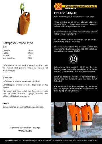 Løfteposer - model 2651 - Fyns Kran Udstyr A/S