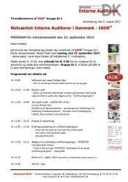 Invitation til IADK netværksmøde 20130925 - Lasse Ahm Consult