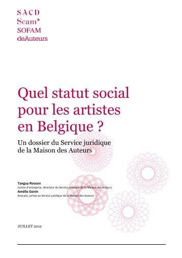 Statut de l'Artiste : FAQ (dossier rédigé par la SACD, juillet 2012)