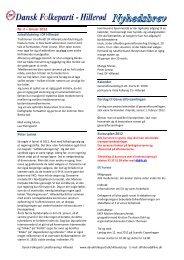 Nyhedsbrev nr 2 2012 - Dansk Folkeparti