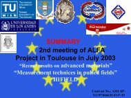 SUMMARY 2nd meeting of ALFA Project in Toulouse in July 2003