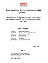 Download tender document - tnrdc