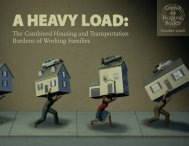 The Combined Housing and Transportation Burdens of ... - JPods