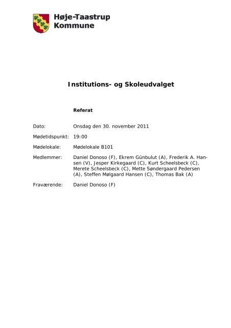 Referat - Høje-Taastrup Kommune