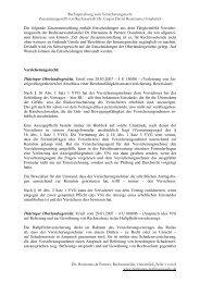 Versicherungsrecht - Dr. Hermanns & Partner