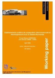 Etablissements publics de cooperation intercommunale et ... - Crem