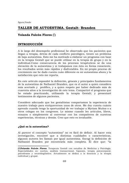 Ejercicios Y Tecnicas Creativas De Gestalterapia Epub