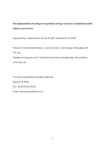 PDF (The implementation of a design of experiments strategy)