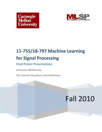 signal processing machine learning
