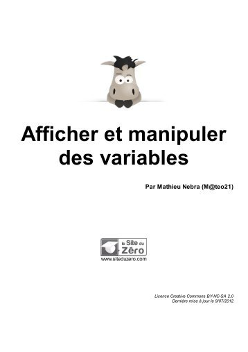 Afficher et manipuler des variables