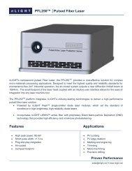 PFL250™ Pulsed Fiber Laser Features Applications - nLIGHT