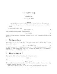 Detailed analysis of the logistic map