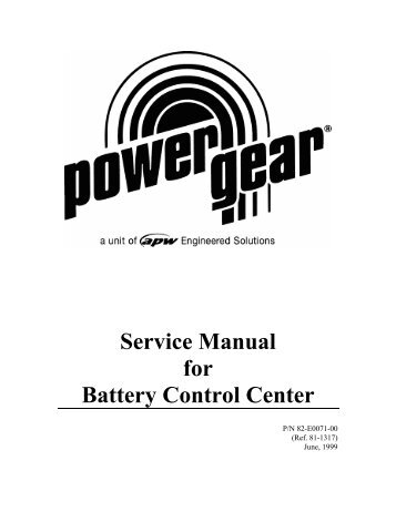 Service Manual Gulf Stream Electronic Full Wall Slide
