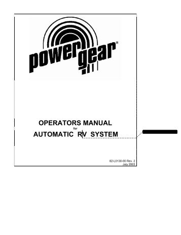 operators manual automatic rv system power gear?qualityd80 power gear leveling jacks wiring diagram somurich com
