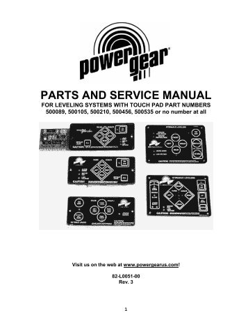 Power Gear Leveling System Wiring Diagram