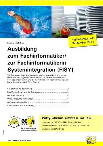 Ausbildung zum Fachinformatiker/ zur Fachinformatikerin ...