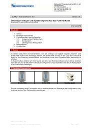 Übertragen analoger und digitaler Signale über das Funk I/O Modul