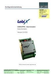 Konfigurationsanleitung GSM/GPRS - Alarmmodem ... - G-c-t.de