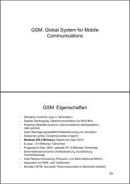 GSM: Global System for Mobile Communications GSM ... - G-c-t.de