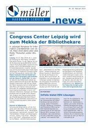 Congress Center Leipzig wird zum Mekka der Bibliothekare