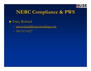 NERC Reliability Compliance - PowerWorld