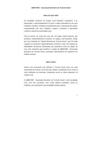 PLANO AÇÃO TURISMO RURAL 2002 - IDESTUR