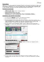 Beschreibung Systemvoraussetzungen Installation und einmalige ...