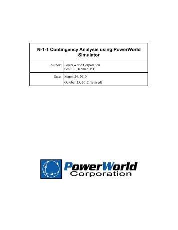 N-1-1 Contingency Analysis using PowerWorld Simulator