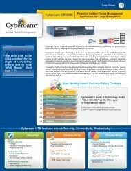 Cyberoam CR1000i Datasheet - FirewallShop.com