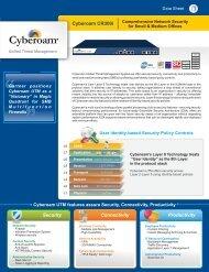 Cyberoam CR300i Datasheet - FirewallShop.com