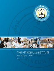 The PI Annual Report 2009 - The Petroleum Institute