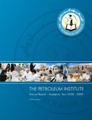 The PI Annual Report AY 2008 - 2009 - The Petroleum Institute