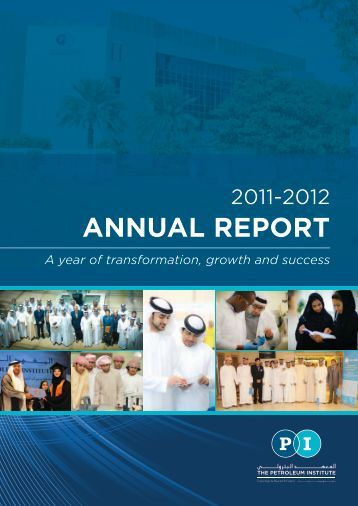 ANNUAL REPORT - The Petroleum Institute