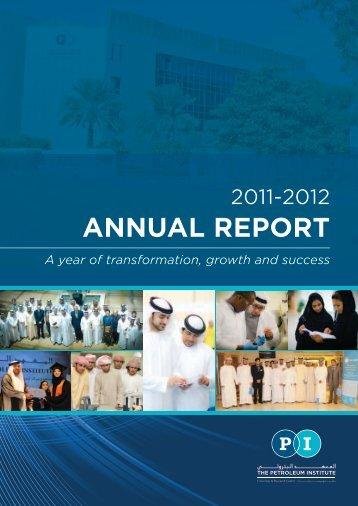 ANNUAL REPORT - The Petroleum Institute