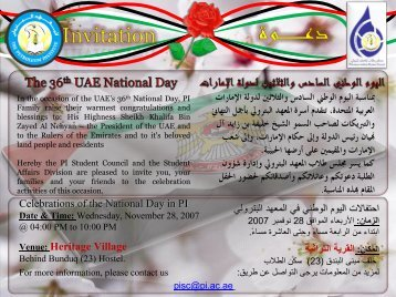 Celebrations of the National Day in PI Celebrations of the National ...