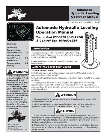 wiring diagram continuedprh:yumpu com | 462  power gear leveling jacks