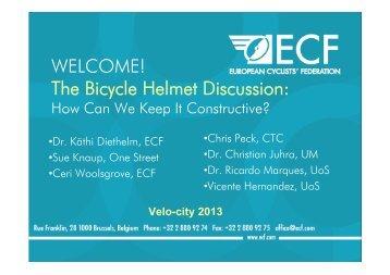 How to Keep the Helmet Debate Constructive - Velo City