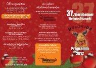 Programmflyer Weihnachtsmarkt 2012 - Viernheim