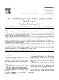 Stress control of hydraulic conductivity in fracture-saturated Swedish ...