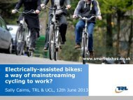 a way of mainstreaming cycling to work? - Velo City