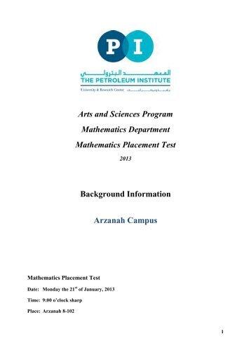Math Practice Test - YTI Career Institute