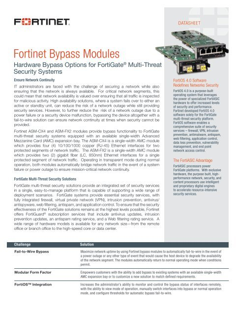 Fortinet Bypass Modules