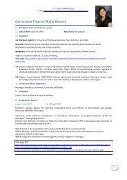 CV - Institute for World Forestry