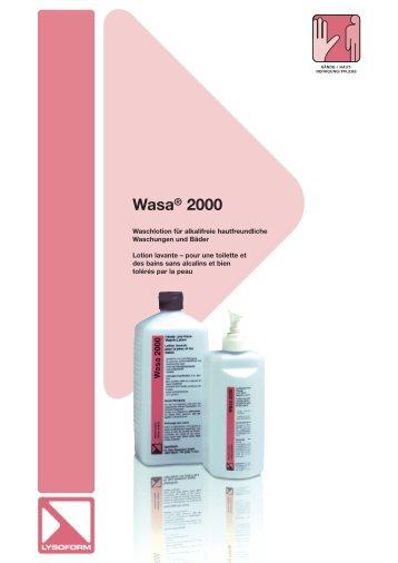 Wasa® 2000 - Lysoform.ch