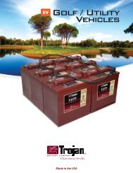 T2 Technology... Trojan's Next Generation of Deep-Cycle Battery ...