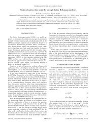 Single relaxation time model for entropic lattice ... - ETH Zürich
