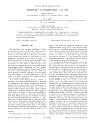 Boundary layer variational principles: A case study